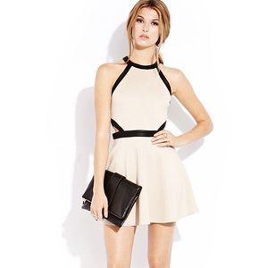 Forever 21 Beige and Black Skater Dress